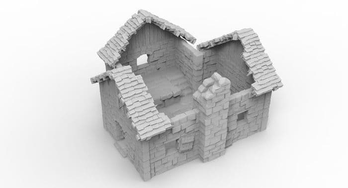 Small Cottage 4 - 3D Print