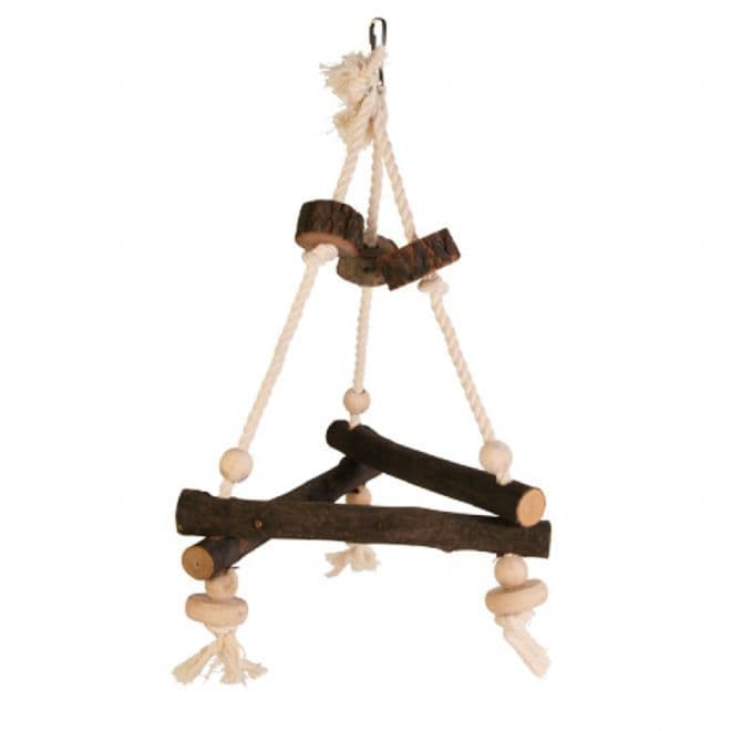 Triangular Wooden Rope Swing - Medium