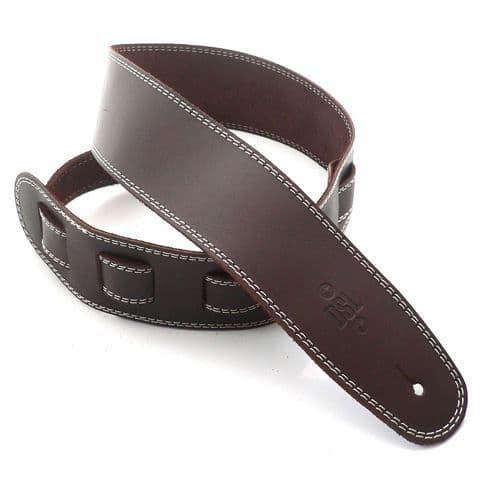 DSL 2.5 Inch Brown Leather Strap With Beige Stitch SGE25-17-3