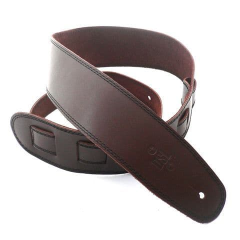 DSL 2.5 Inch Brown Leather Strap With Black Stitch SGE25-17-1