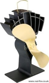 Caframo UltrAir Ecofan 810 Black & Gold Woodburner Fan Genuine Caframo