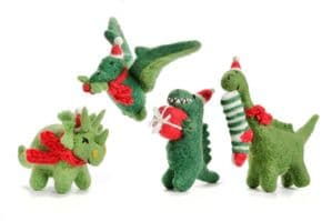Christmas Dinosaur Set