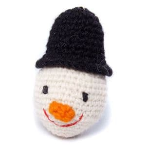 Crochet Snowman Head Bauble