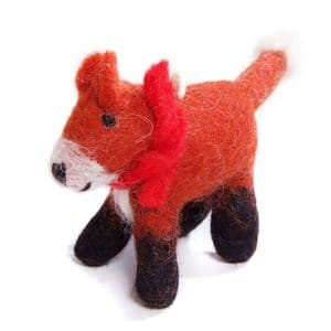 Fox with Scarf Decoration (CD69100)