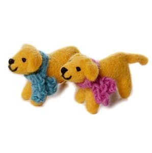Mini Golden Labrador Toy - 3 Pack