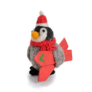 Penguin with Skis