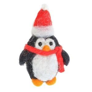 Small Penguin in Hat and Scarf