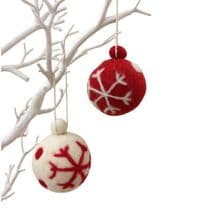 Snowflake Bauble - 2 pack