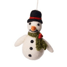 Snowman with Holly Scarf