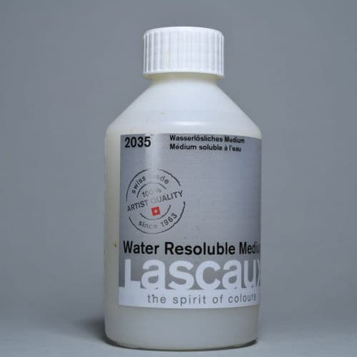 2035 Water Resoluble Acrylic Medium. Lascaux, 250ml bottle