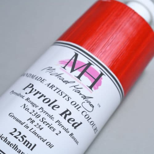 230 Pyrrole Red Michael Harding Oil Colour, 225ml tube