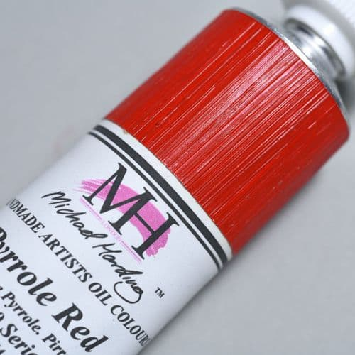 230 Pyrrole Red Michael Harding Oil Colour, 40ml tube