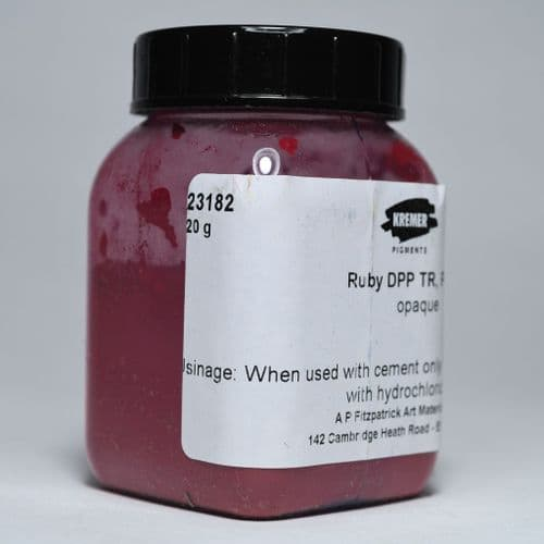 23182 Kremer Ruby Red DPP TR Pigment 20g plastic container