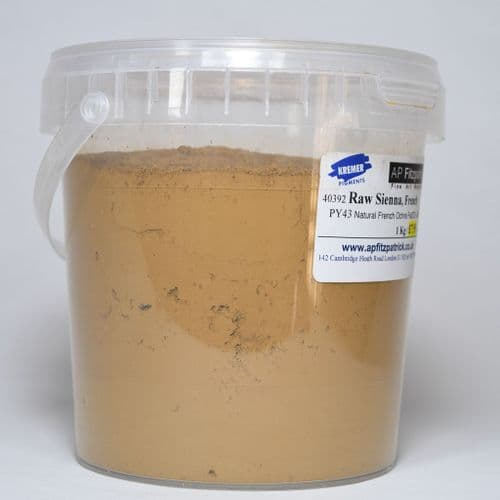 40392 Raw Sienna French Kremer Pigment, 1kg plastic container