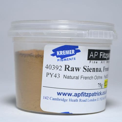 40392 Raw Sienna French Kremer Pigment, 75g plastic container