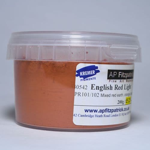 40542 English Red Light Kremer Pigment, 200g plastic container