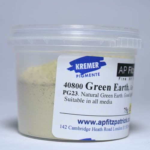 40800 German Green Earth Kremer Pigment, 75g plastic container