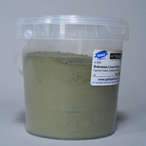 41800 Bohemian Green Earth Imit Kremer Pigment, 750g plastic container