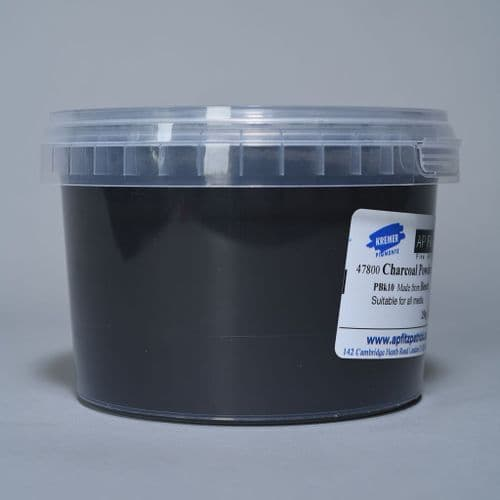 47800 Charcoal Powder Kremer Pigment, 250g plastic container