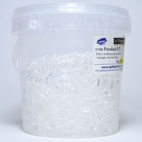 67400 Paraloid B72 Resin. Kremer, 500g plastic container