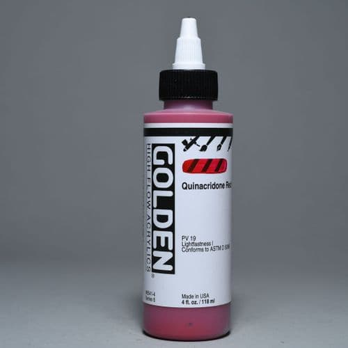 8541 Quinacridone Red, High Flow Acrylic, 118ml bottle