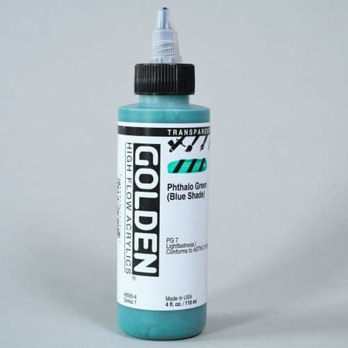 8560 Transparent Phthalo Green BS, High Flow Acrylic, 118ml bottle