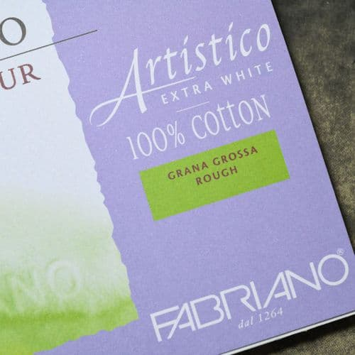 "9"" x 12"" Artistico Rough Watercolour Block by Fabriano"