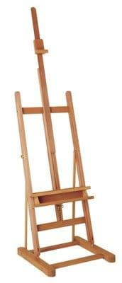 MABEF M/07 Studio Easel, Medium, Oiled Beech wood, Adjustable height with ratchet action