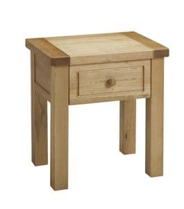 Charltons Bretagne Solid Oak Lamp Table With Draw