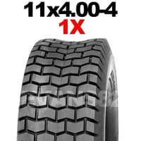 11x4.00-4 TYRE, RIDE ON MOWER 11 x 400 - 4 TURF TIRE 4PR