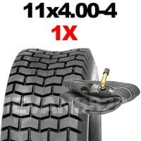 11x4.00-4 TYRE & TUBE SET FOR RIDE ON LAWN MOWERS 11 4.00 4