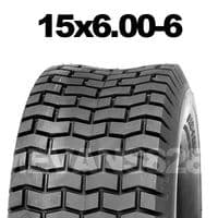 15x6.00-6 MOWER TYRE FOR RIDE ON LAWN MOWERS