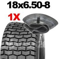 18x6.50-8 TYRE & TUBE SET FOR RIDE ON LAWN MOWERS 18 6.50- 8