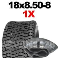 18x8.50-8 TYRE & TUBE SET FOR RIDE ON LAWN MOWERS 18 8.50 8