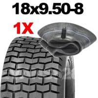 18x9.50-8 TYRE & TUBE SET FOR RIDE ON LAWN MOWERS 18 9.50 8