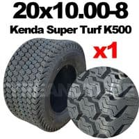 20x10.00-8 MOWER TYRE KENDA K500 SUPER TURF