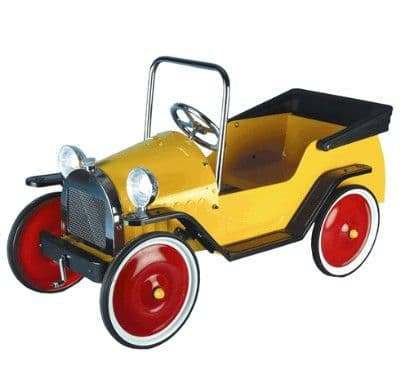 Children's Classic Harry Pedal Car Yellow - Great Gizmos