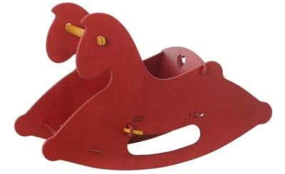 Children's Wooden Rocking Horse Red - Moover Toys