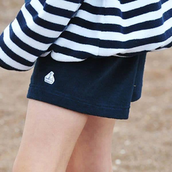 Mitty James Children's Boys Towelling Shorts with Pockets – Navy Plain