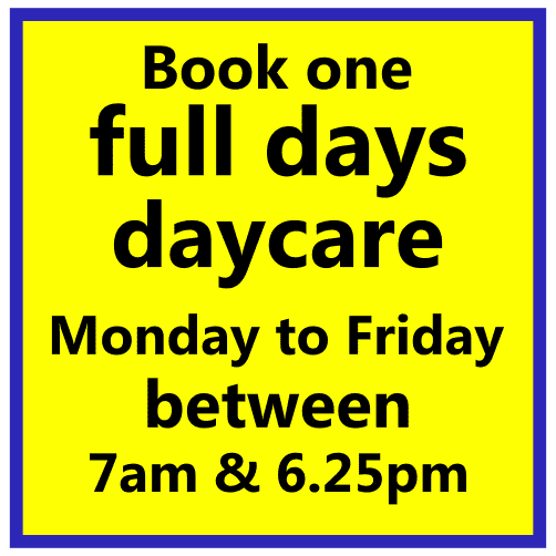 full day, weekday care, Scoobys Northampton