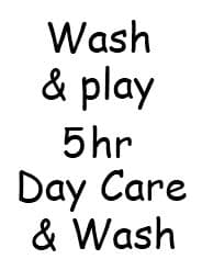 Wash & Play 5hrs