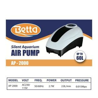 Betta AP-2000 Aquarium Air Pump