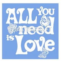 All You Need Trivet Blue