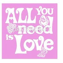 All You Need Trivet Pink