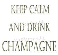 Keep Calm Drink More Champagne