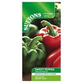 Suttons Pepper Sweet Seeds - Californian Wonder