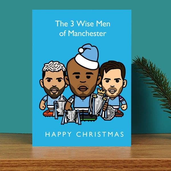 3 Wise Men of Manchester Christmas Card