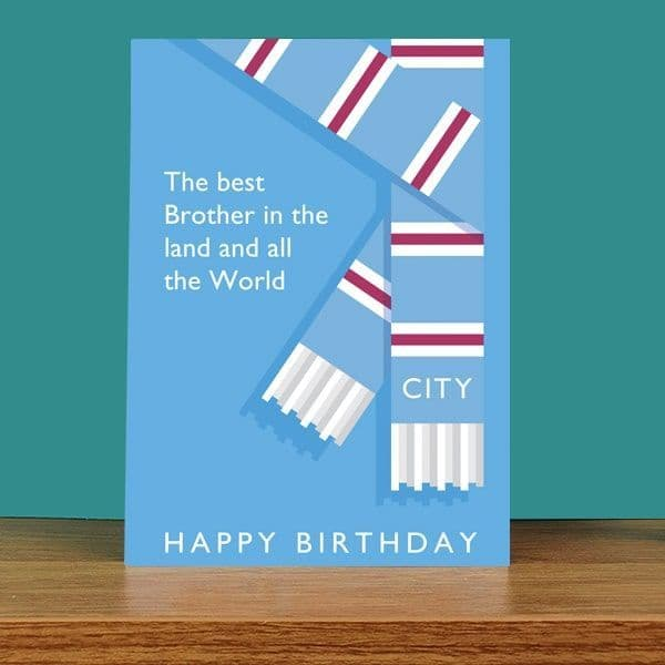 Best Brother in the Land City Birthday Card