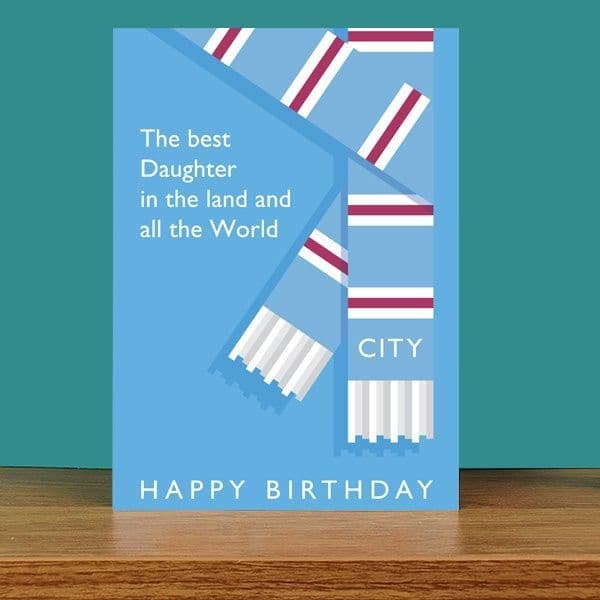 Best Daughter in the Land City Birthday Card