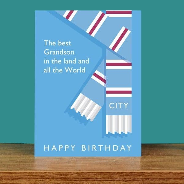Best Grandson in the Land City Birthday Card